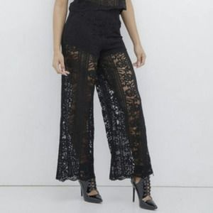 Endless Rose | Black Lace Pants
